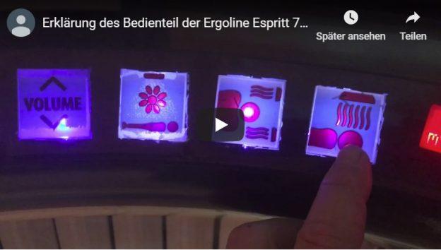 Bedienteil der Ergoline Esprit 770.